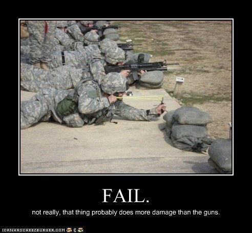 FAIL. not really, that thing probably does more damage than the guns.