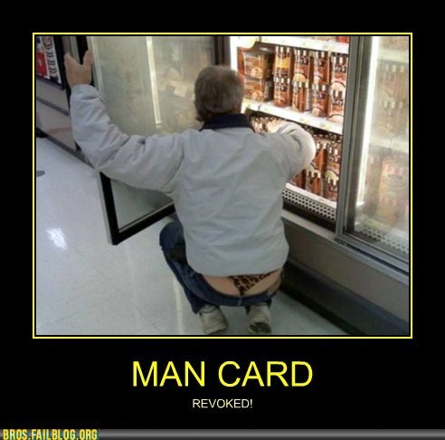 demotivational,ice cream,leopard print,man card,thong