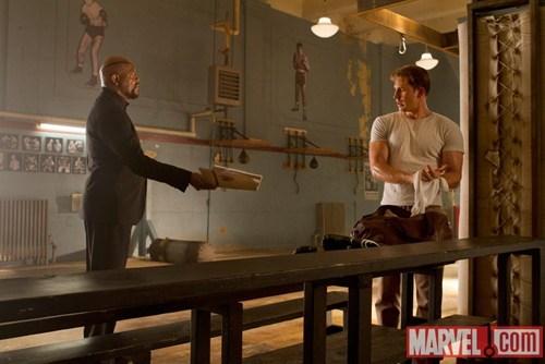 Black Widow captain america hawkeye iron man movies Nick Fury photos stills superheroes The Avengers the hulk - 5750595584