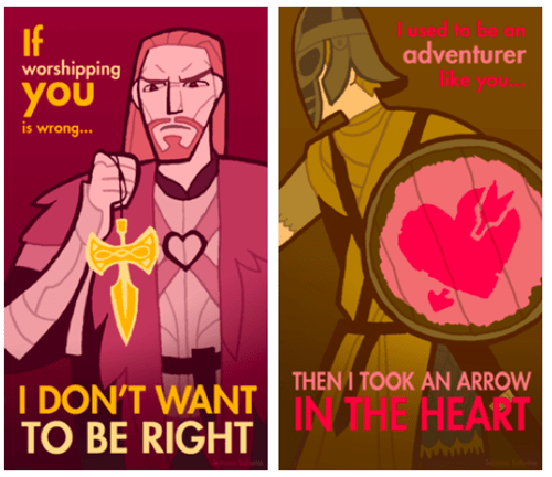 Fan Art,lol,Skyrim,valentines,video games