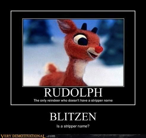 blitzen hilarious reindeer rudolph stripper - 5751008256
