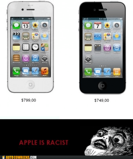 apple,AutocoWrecks,black,black and white,color,g rated,iphone,racist,white
