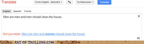 cleaning,google,men vs women,tranlator