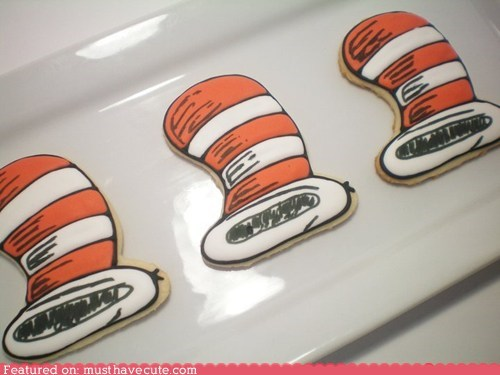 cat in the hat,cookies,dr seuss,epicute,hat,icing