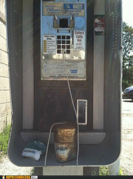 can,can on a string,payphone,repair