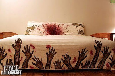 bed,clever,covers,decoration,design,sheets,win,zombie