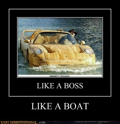 boat car hilarious wood wtf - 5751374080