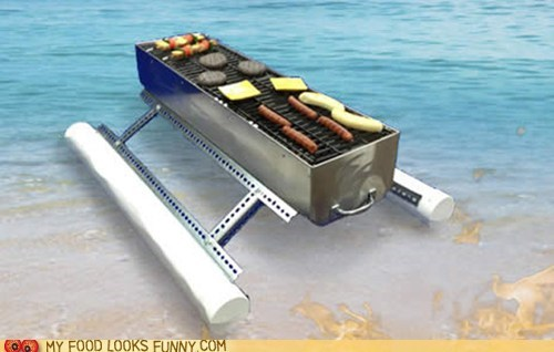 barbecue bbq beach cooking ocean silly water - 5751374848
