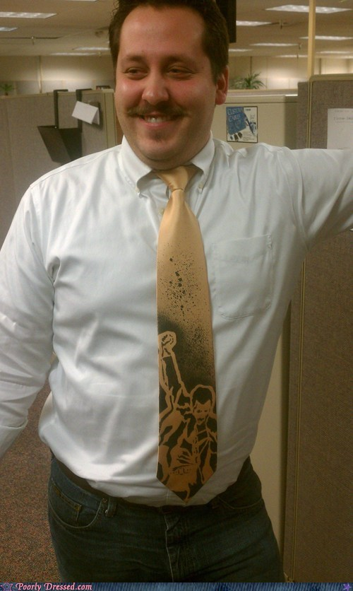 g rated,meme tie,poorly dressed,promotion,ties