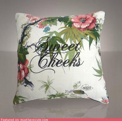 bed compliment couch Pillow sweet cheeks - 5751392768