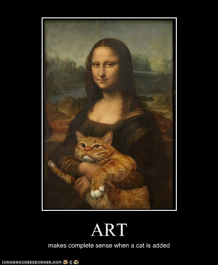 art cat color demotivational funny historic lols painting shoop - 5751423744