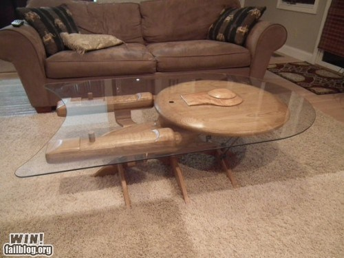 coffee table design enterprise furniture nerdgasm Star Trek table - 5751427072