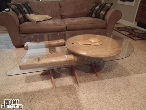 coffee table design enterprise furniture nerdgasm Star Trek table - 5751427072