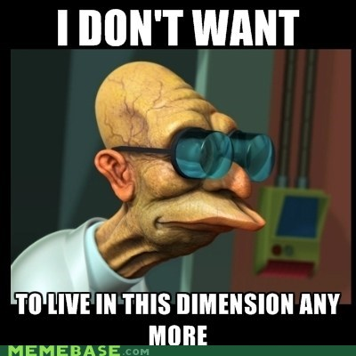 3d dimensions farnsworth futurama i dont want to live on this planet anymore - 5751489024