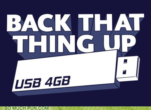 back it up backing up dance data double meaning flash drive Hall of Fame literalism move saving USB - 5751537664
