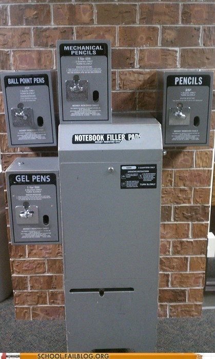 Hall of Fame notebook pen pencil school supplies vending machine - 5751686912