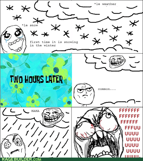 fu guy,Rage Comics,rain,snow