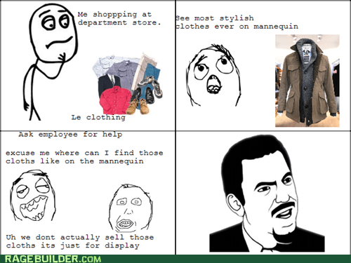 mannequin,Rage Comics,shopping,wtf