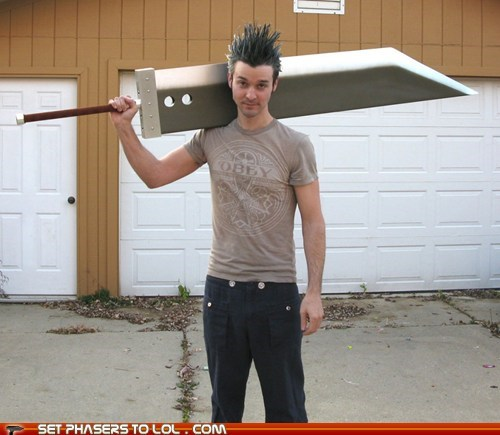 buster sword,cloud,final fantasy VII,replica,video games
