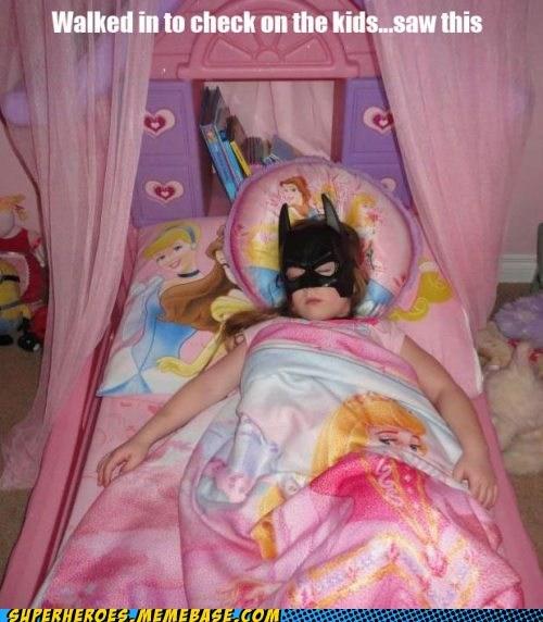 batgirl cute daughter kid sleeping Super Costume - 5752301056
