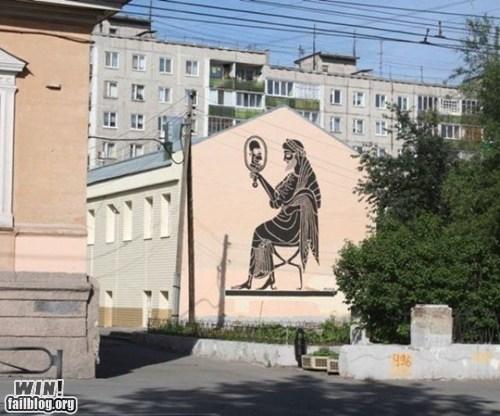 classic epic graffiti greek hacked irl homer mirror Street Art - 5752372992