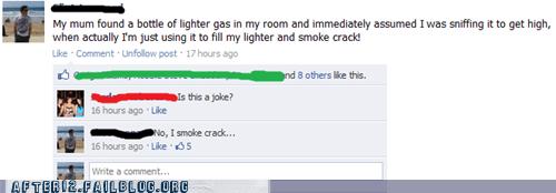 coke crack drugs facebook gas status update - 5752720384