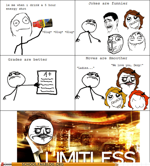 energy drink,five hour energy,limitless,rage comic
