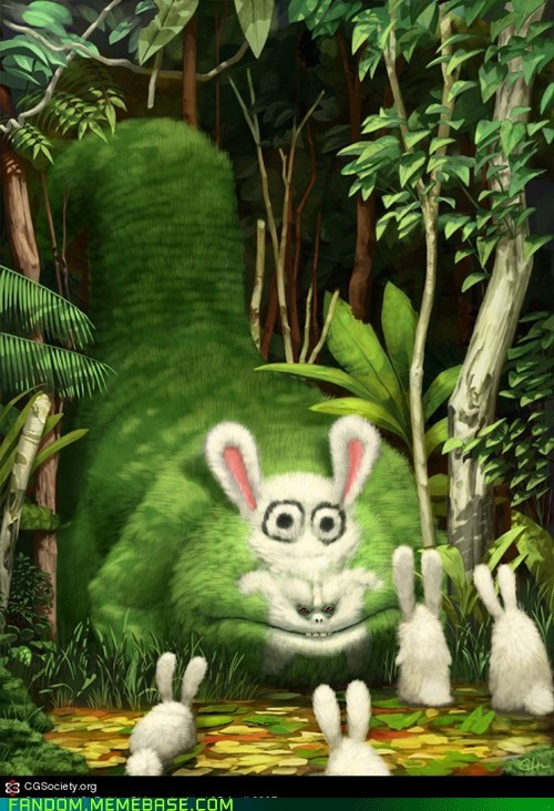 animals bunny creature It Came From the Interwebz scary - 5752922624