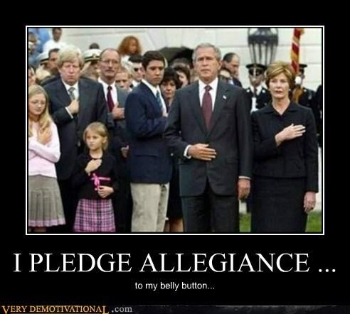 belly button george w bush idiots pledge allegiance - 5753734144
