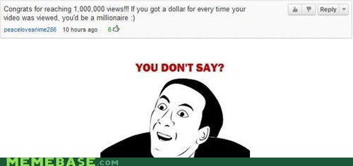 comment million Rage Comics tautology