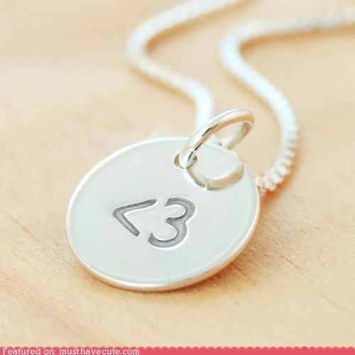 chain heart Jewelry less than three necklace pendant silver - 5754570240