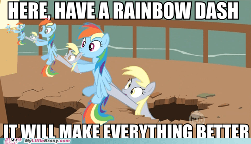 chain dawwwwww derpy hooves meme rainbow dash - 5754762240
