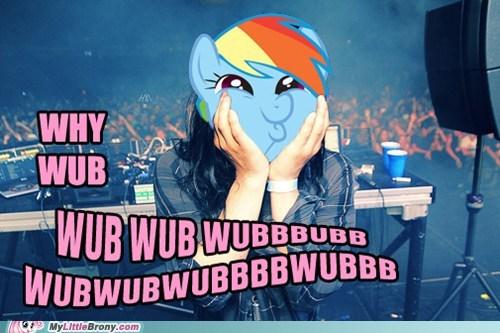 crossover dubstep rainbow dash skrillex wubwubwub - 5755115776