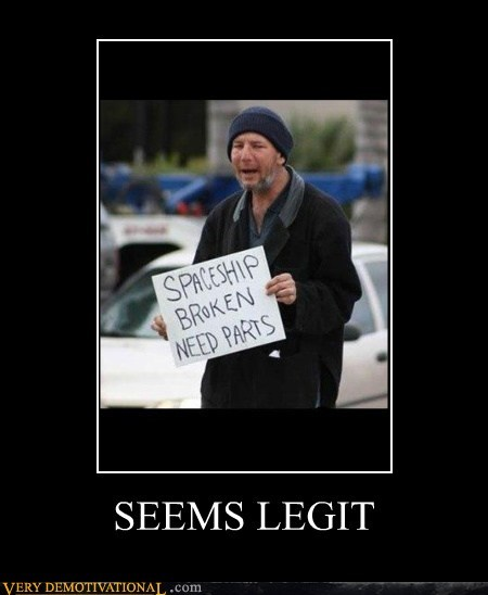 Aliens,sign,homeless,funny