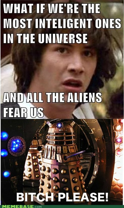 conspiracy keanu,dalek,doctor who,exterminated,please