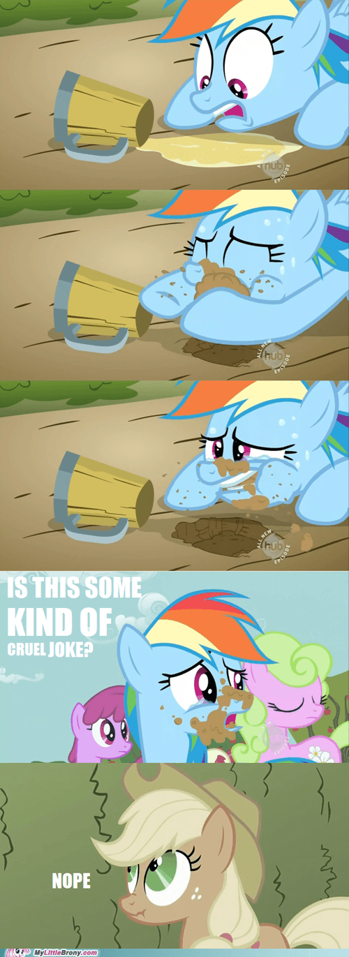 applejack appliejack cider comics nope rainbow dash - 5755406592