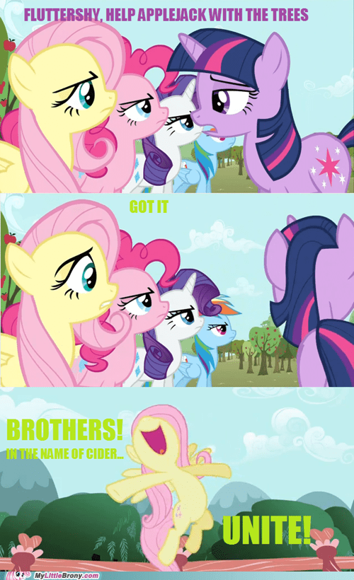cider comic comics fluttershy fluttershy is a tree meme - 5755542272
