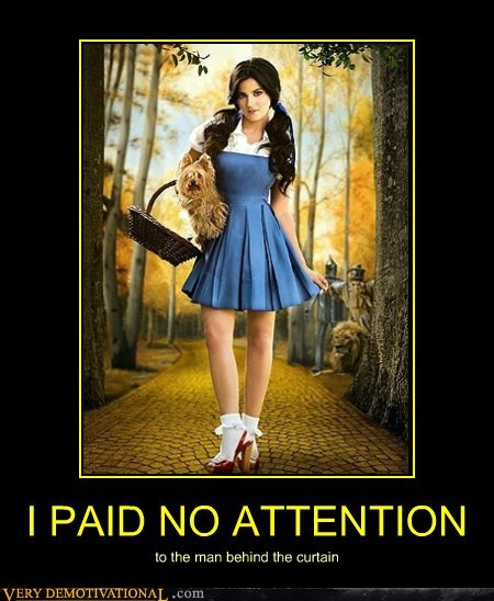 attention curtain Dorothy hilarious wizard of oz - 5755572992