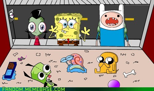 adventure time,best of week,Fan Art,fandom,Invader Zim,SpongeBob SquarePants