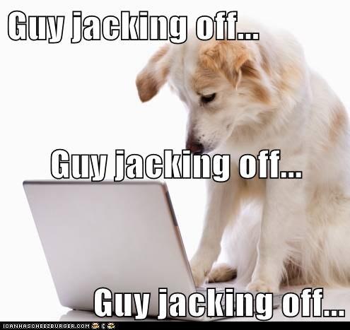 jacking off a dog
