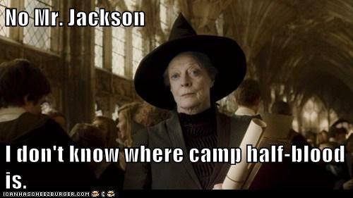No Mr. Jackson I don't know where camp half-blood is.
