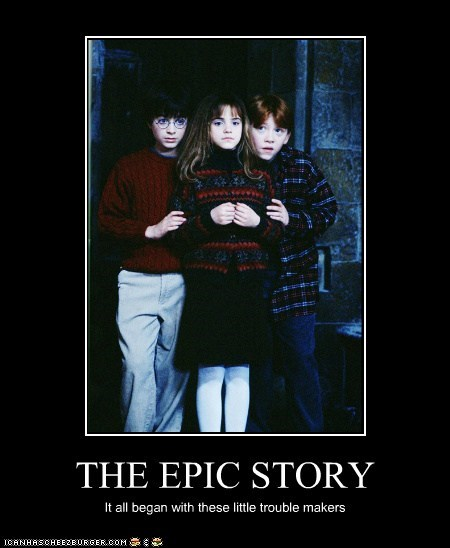 Daniel Radcliffe emma watson epic harry Harry Potter hermione granger ron weasely rupert gring story trouble maker - 5757127168