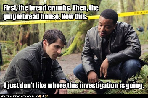dark david giuntoli Forest gingerbread house grimm hank griffin hansel and gretel nick burkhardt russell hornsby witch - 5757317888