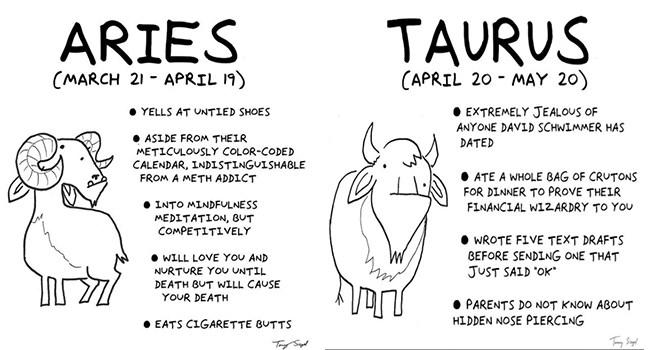 zodiac funny comics signs horoscope web comics - 5758213