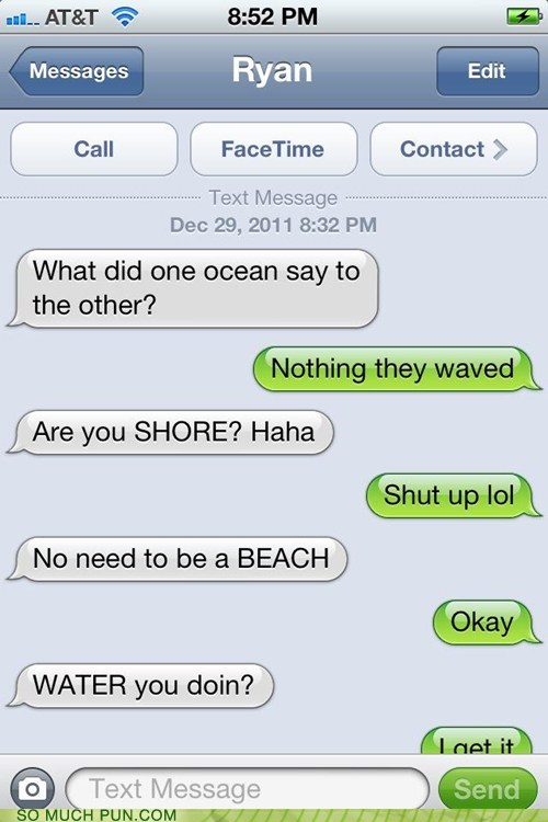 beach conversation iphone ocean shore similar sounding text text message water - 5759699712