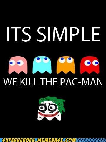 Awesome Art batman ghosts joker pac man - 5760090880