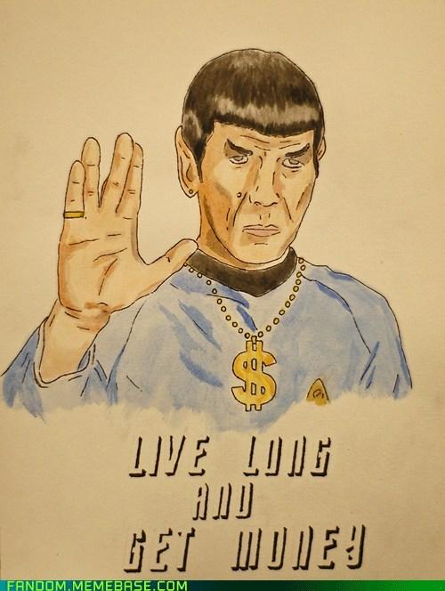 Fan Art get money Spock Star Trek - 5760508160