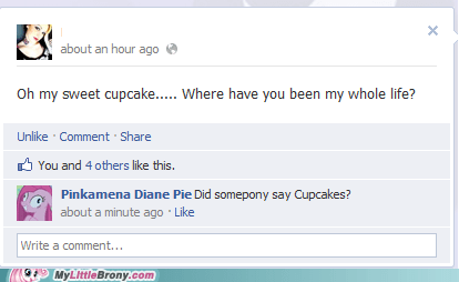 cupcakes facebook pinkamena diane pie pinkie pie the internets - 5760814336