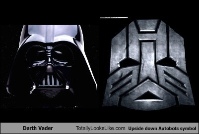 darth vader totally looks like upside down autobots symbol totally
