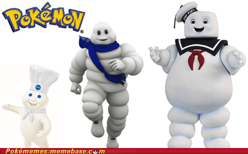 awe inspiring,generation six,Memes,Michelin man,new pokemon,pillsbury doughboy,Pokémon,stay puft